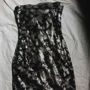 Ruby Rox Metallic Mini Dress